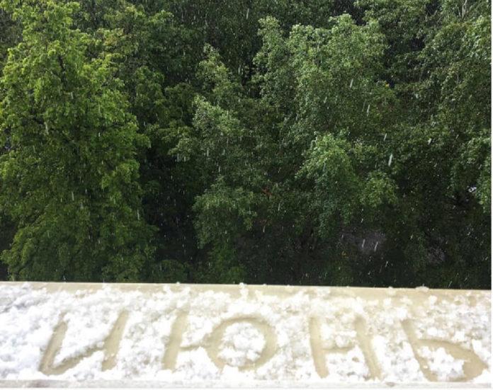Первый день лето Ульяновск 2018 пошел снег новости ульяновска,73онлайн,улпресса,погода ульяновск,непогода ульяновск,