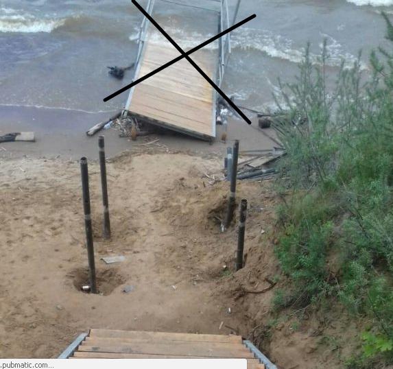 Пирса не будет. В парке «Прибрежный» открыли укороченную лестницу к Волге