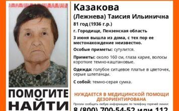 Лиза алерт,Ульяновсцев просят помочь найти пенсионерку из Пензенской области Пропал человек, розыск человека ульяновск