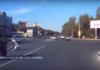 На Локомотивной столкнулись «Гранта» и мотоцикл. Видео