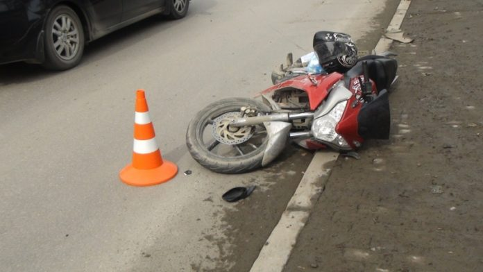 Мотоциклист попал в ДТП под Ульяновском