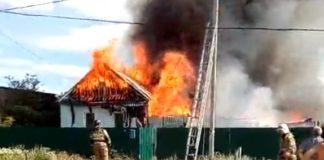 В Баратаевке горит частный дом
