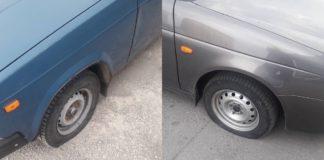 Ночью в Ульяновске проткнули колеса минимум 10 машинам