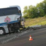 На трассе в Карсунском районе столкнулись фура и пассажирский автобус. Фото