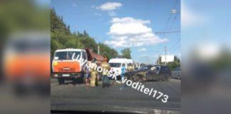 В Ульяновске на Майской горе «пробка» из-за аварии