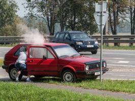 В Ульяновске на дороге загорелась легковушка