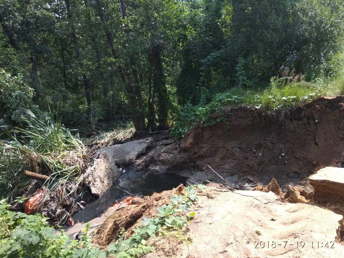 В Димитровграде прорвало канализационный отстойник