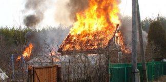 Ульяновская пенсионерка хотела потушить дачный дом и получила ожоги рук