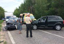 В Ульяновской области лоб в лоб столкнулись две иномарки