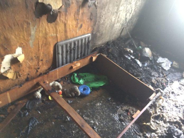Из-за детской шалости загорелась квартира под Ульяновском