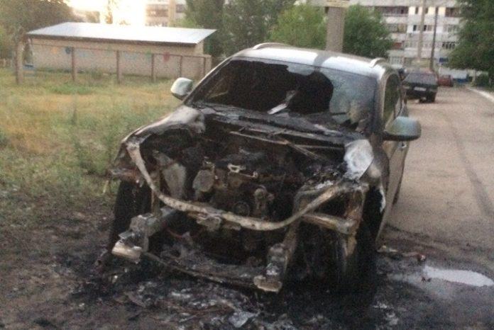 Ночью в Димитровграде сгорела иномарка