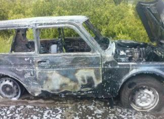 В Ульяновской области сгорела «Нива»