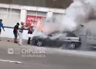 В Новом городе сгорела «Опель Кадет»