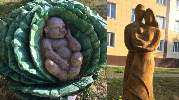 Сумоист в капусте. Ульяновцы критикуют скульптуры, которые установили у областной больницы