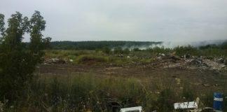 В Барыше горит свалка