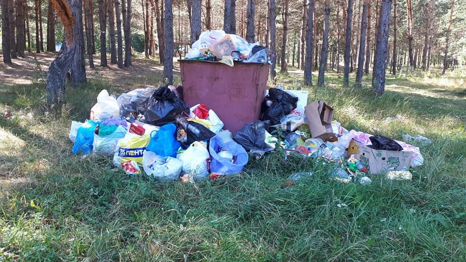 По требованию прокуратуры вывезли мусор с берега пруда в Юлово