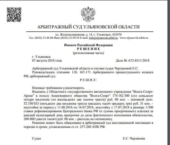 АО «Волга-Спорт» ставит Ульяновскую область на «счетчик»
