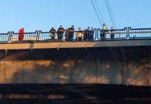 Ульяновец пытался спрыгнуть с моста. Видео