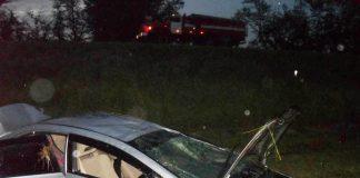 Под Ульяновском иномарка улетела в кювет: пострадали 26-летняя девушка и 17-летний мальчик