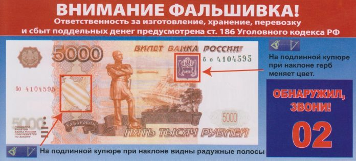 В Ульяновске задержаны двое парней, которые расплачивались в магазинах фальшивыми купюрами