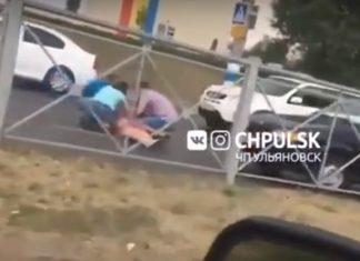 В Ульяновске на проспекте Созидателей сбили 50-летнюю женщину. Видео