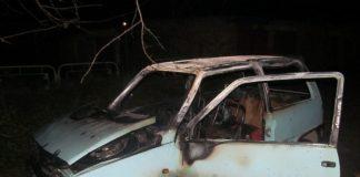 Вечером в Новом городе сгорела «Ока». Фото
