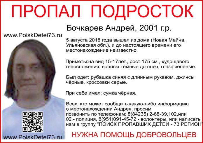 В Ульяновской области пропал 17-летний парень