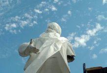 Под Ульяновском памятник Ленину остался без руки. Фото