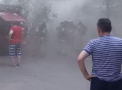 В Ульяновске из-за пожара в подвале пятиэтажки эвакуировали 40 человек. Видео