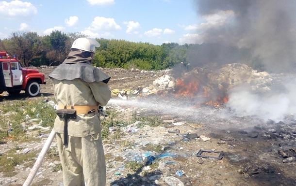 Неизвестные подожгли свалку в Красноярский полигон ТБО